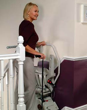Sit and stand frame for Stairlifts